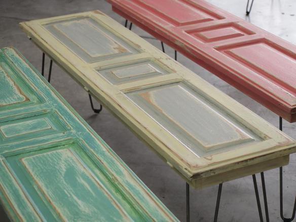 Puerta con patas de hierro repurposed beauties - Mesas con puertas ...