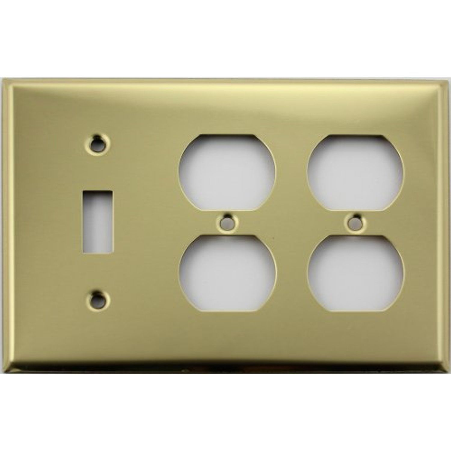 Polished Brass Three Gang Wall Plate One Toggle Two Duplex Outlets You Can Get More Details By Clicki Plates On Wall Polished Brass Electricity