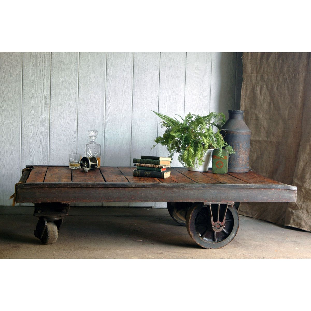 Factory Cart Coffee Table Trend In Minimalist Interior Design And Old Coffee  Table Ideas   Living Room Vintage Coffee Table