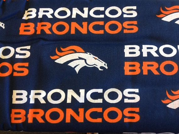 Broncos- Fabric by the yard