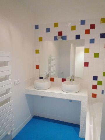 L\u0027effet dynamisant du carrelage dans une salle de bains Bathroom