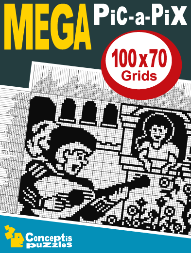 Mega Pic A Pix 26 Page Downloadable Pdf Book Containing 10 Mega B W