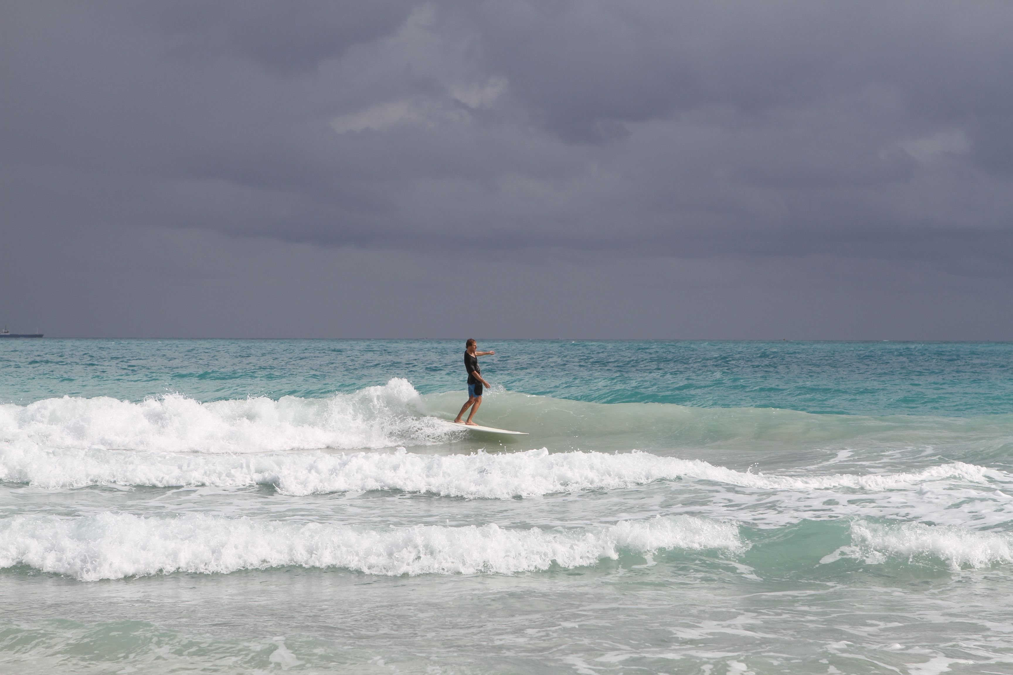 Small Day Surfing In South Beach South Beach Miami Surfing South Beach