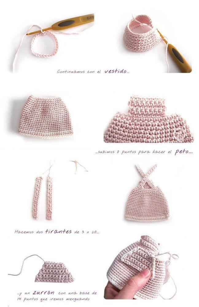 Peluche de crochet conejita de orejas largas - Amigurumi | Patrones ...