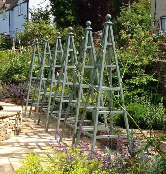Wooden Obelisk Painted Garden Obelisks Gallery Ideas For Vegatable Gardening Pinterest Gardens And Structures