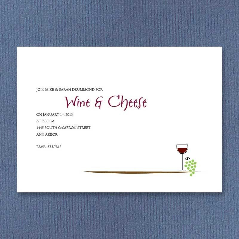 Wine and Cheese Invitations from American Stationery | Invitations ...