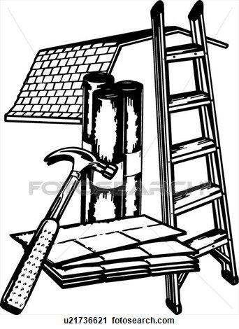 Clipart Of Occupations Business Signs Carpenter Sign Elements Construction Roofing Sign Trade U21736621 S Business Signs Clip Art Clip Art Vintage