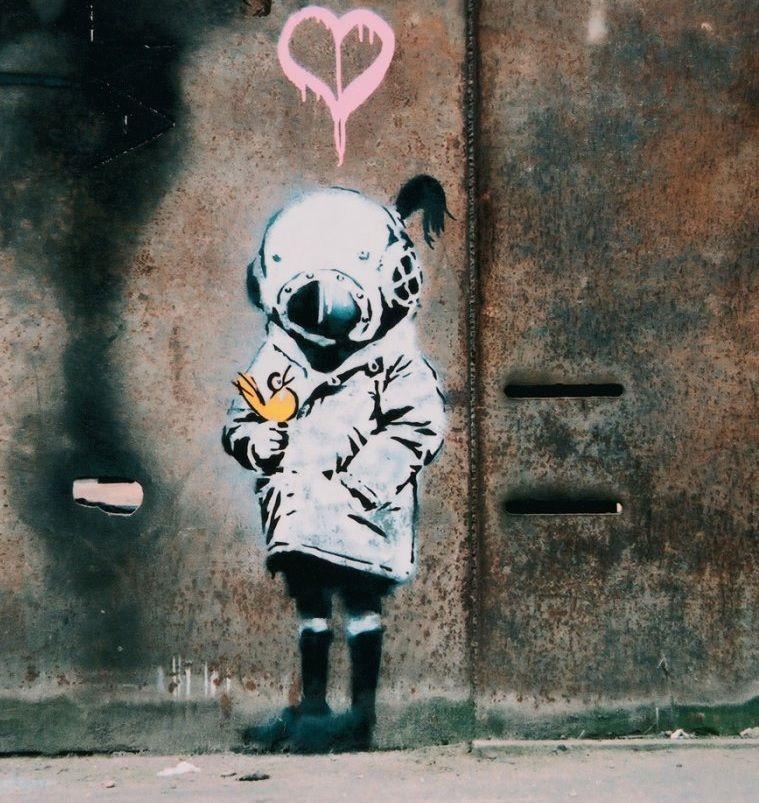RAIN BANKSY GRAFFITI ART HIGH GLOSS PHOTO POSTER FREE POST