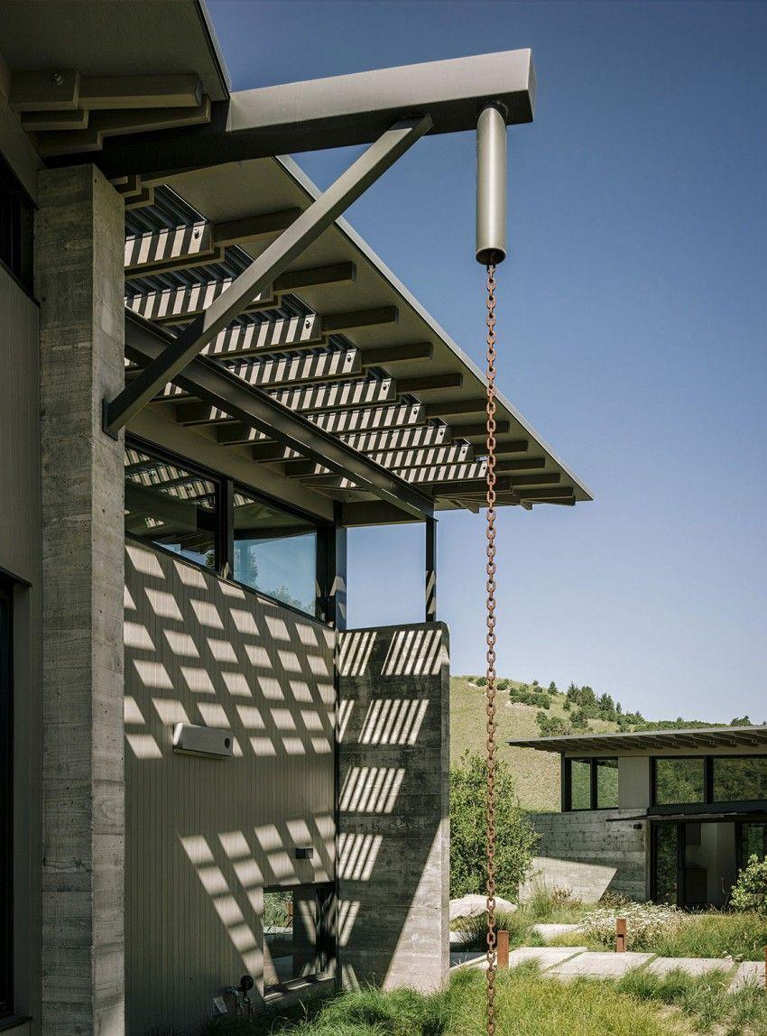Zinc Roof With Sleek Guttering Roof Architecture Zinc Roof Metal Roof