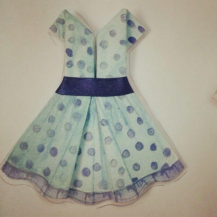 Paper blue dress-Laura Victoria Velásquez