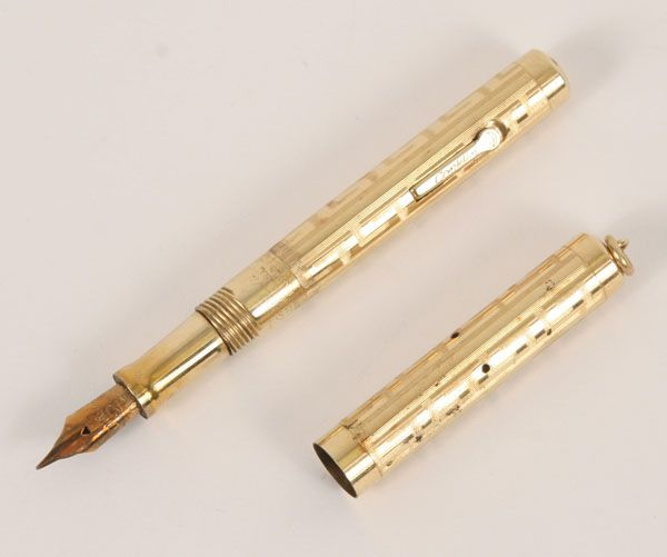 Conklin gold filled fountain pen, 1920's.Rolled gold exterior