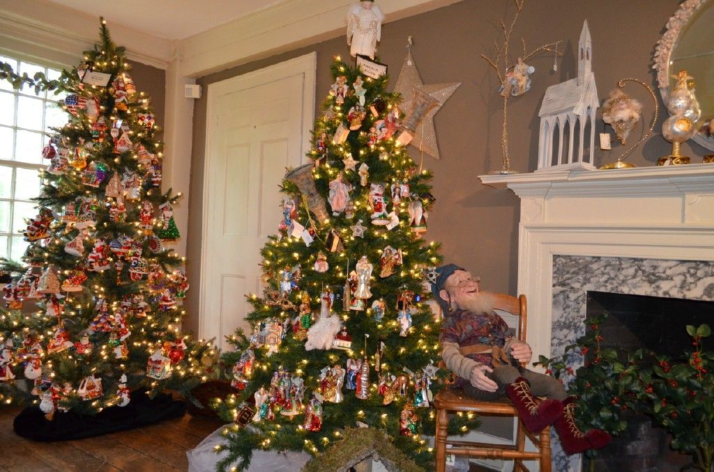 The Christopher Radko Tree and the Angel Tree.  www.historicalchristmasbarn.com