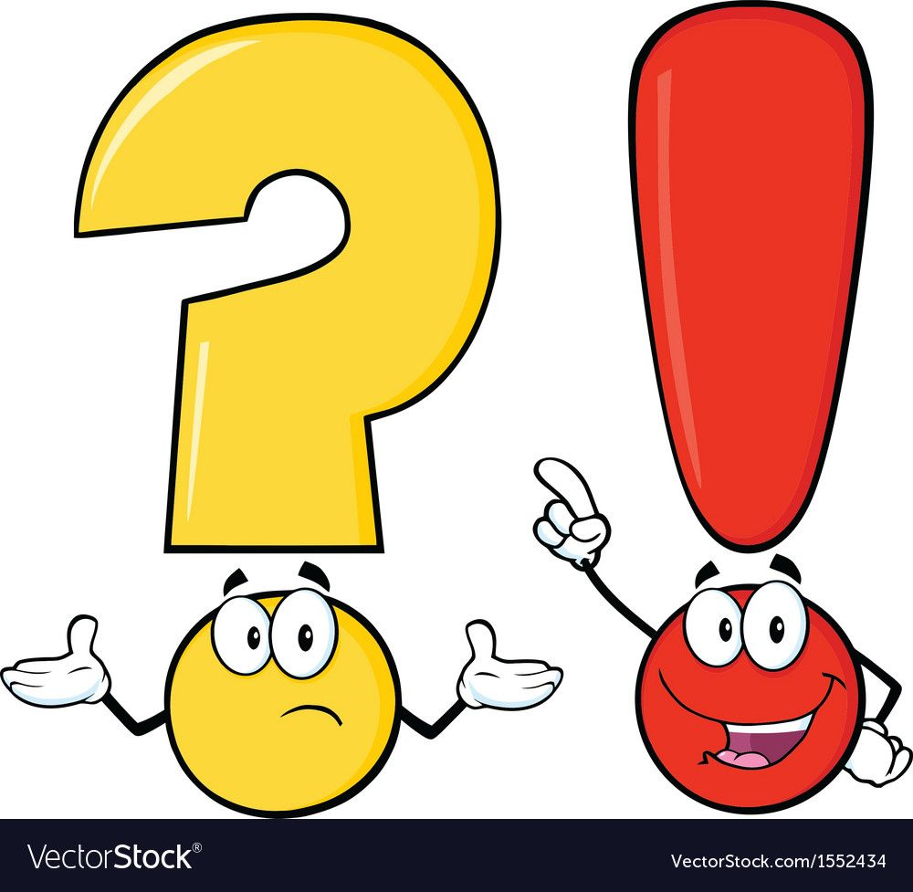 Punctuation Cartoon Download A Free Preview Or High Quality Adobe Illustrator Ai Eps Pdf And High Resolut Exclamation Mark Question Mark Art School Supplies