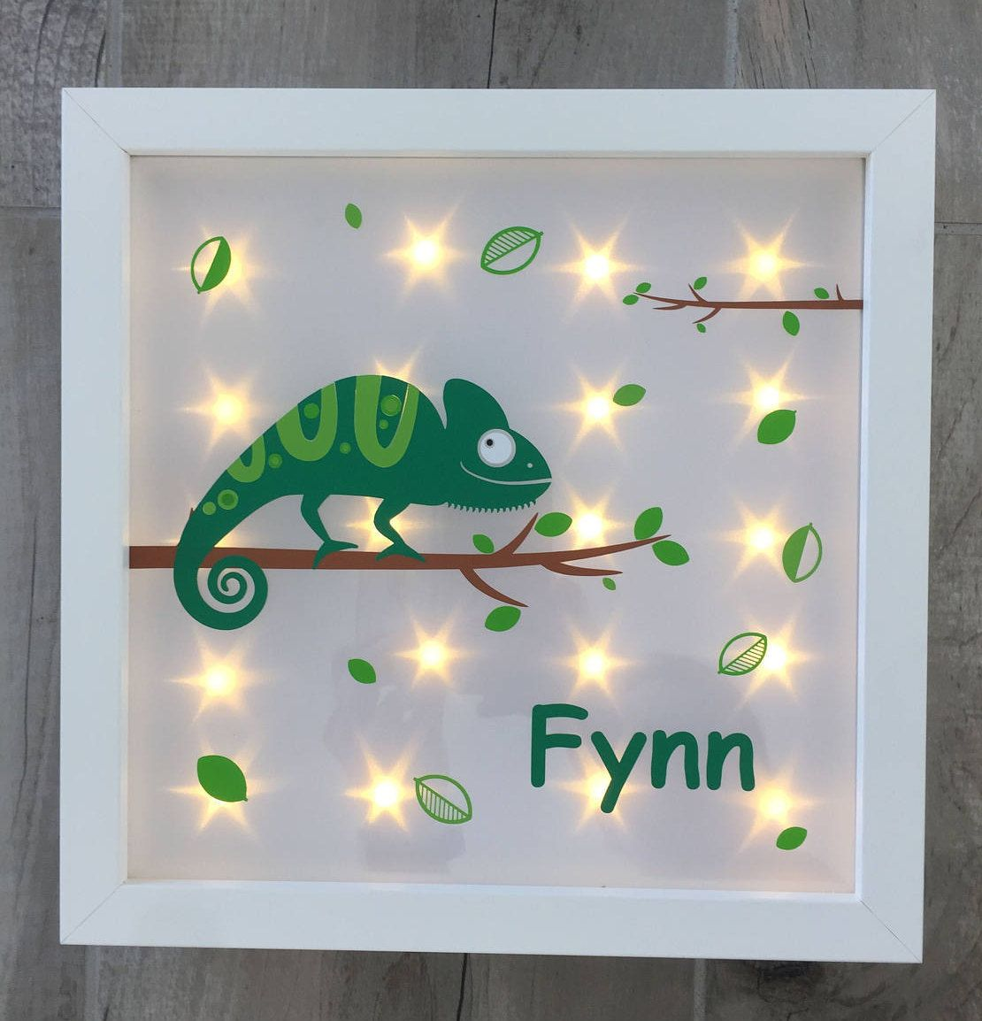 Illuminated picture frame with Chameleon and night light, gift ...