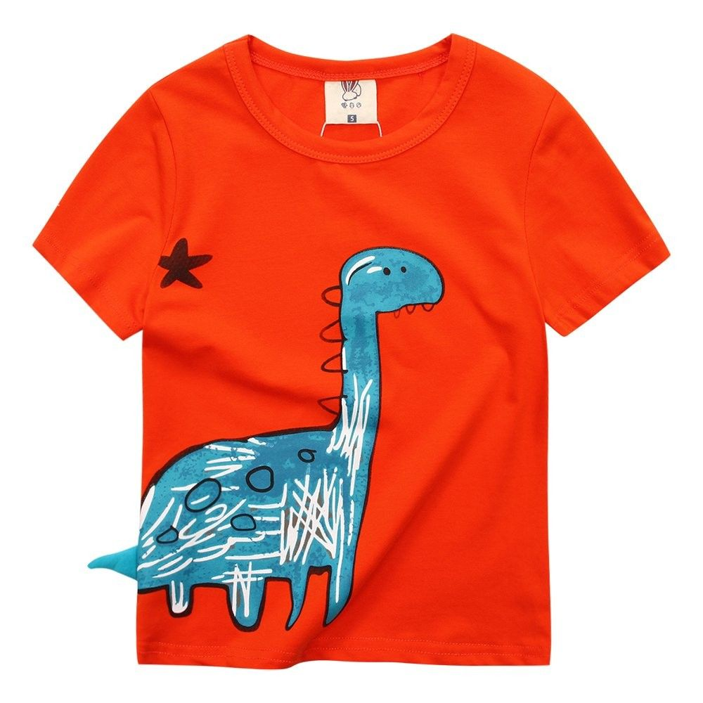 Boys Long Sleeve Dinosaur T Shirt Kids Cotton tee Tops