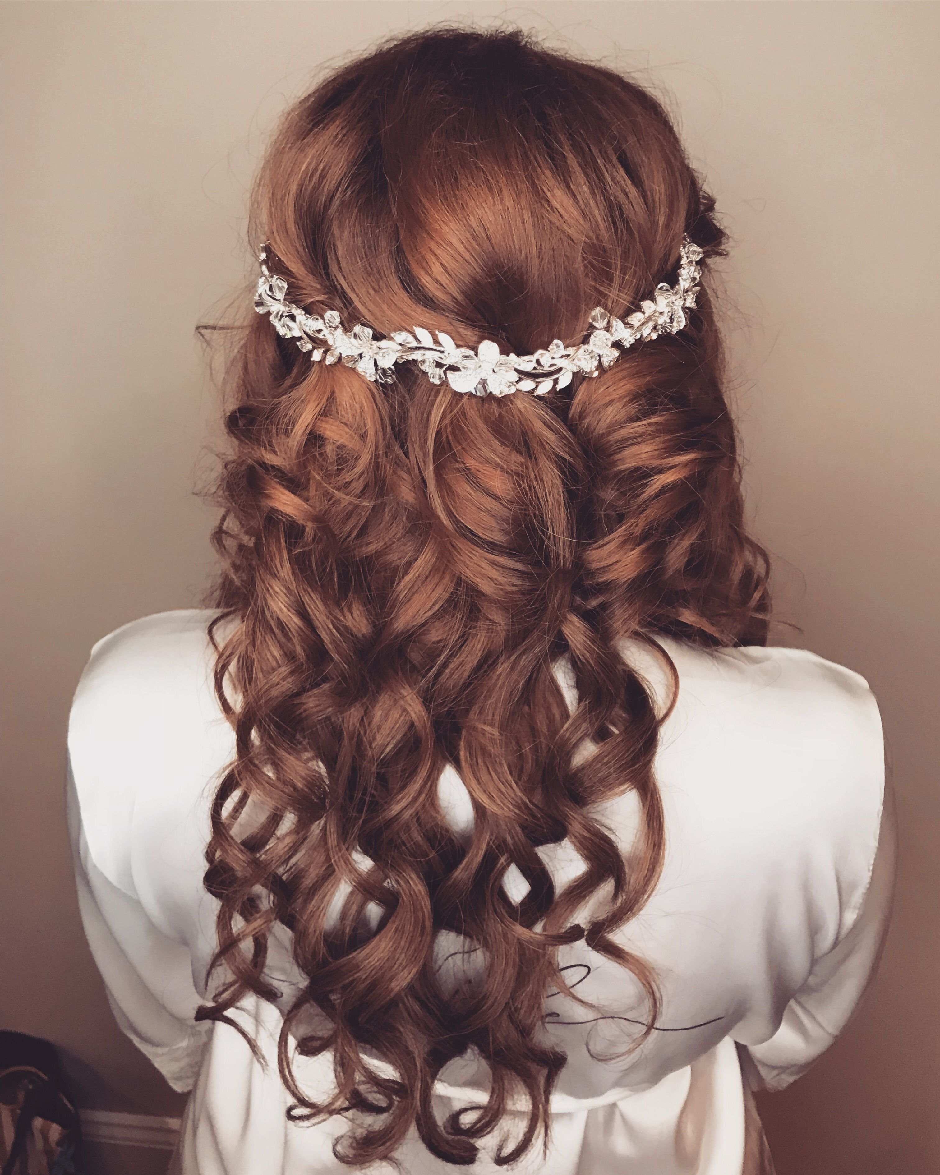 bridal hair style with extensions and a hair piece | bridal