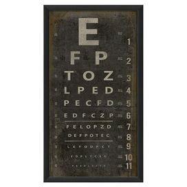 Eye Chart Framed Giclee Print