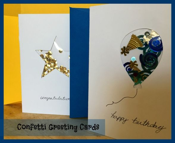 Confetti Greeting Cards with envelopes