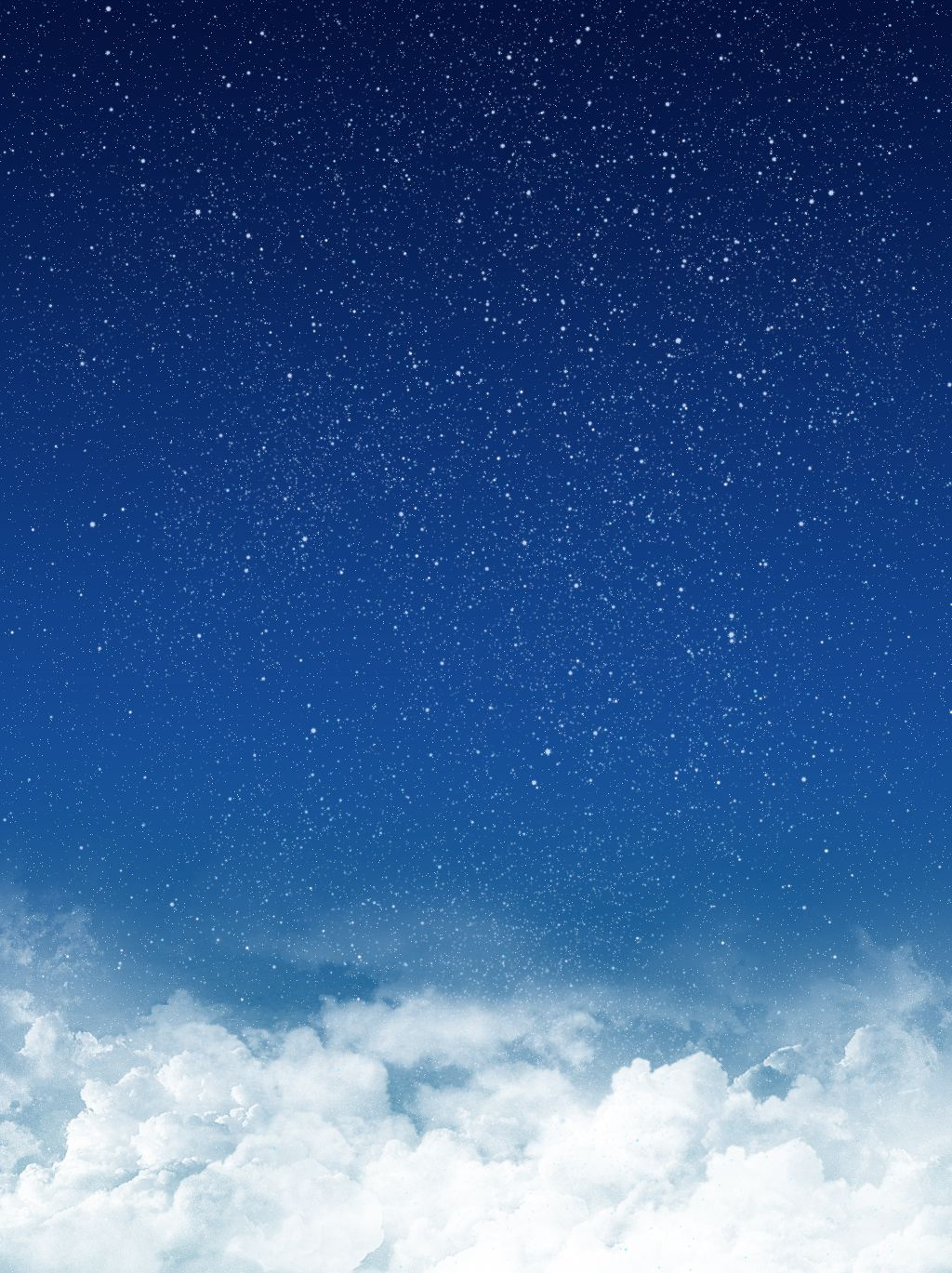 Blue Clouds Starry Sky White Dots Poster Background Blue Sky Clouds Blue Sky Background Blue Clouds