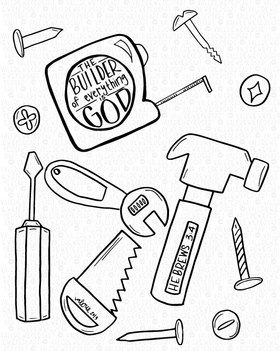 Coloring Page Creation God Is The Builder Of Everything