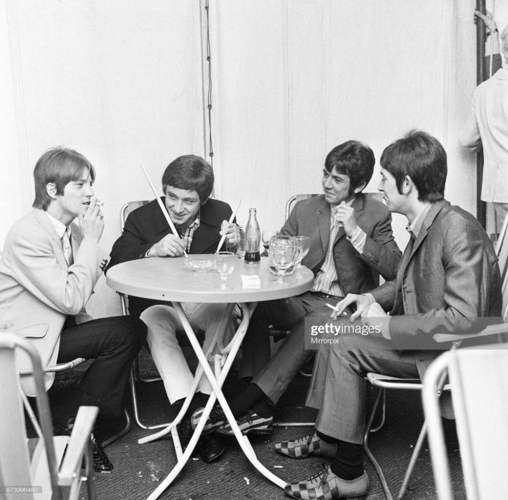 The Small Faces relax back stage at the 6th National Jazz