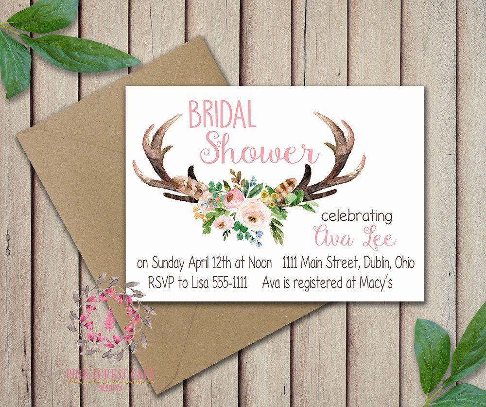 Baby Bridal Bride Shower Birthday Party Deer Antlers