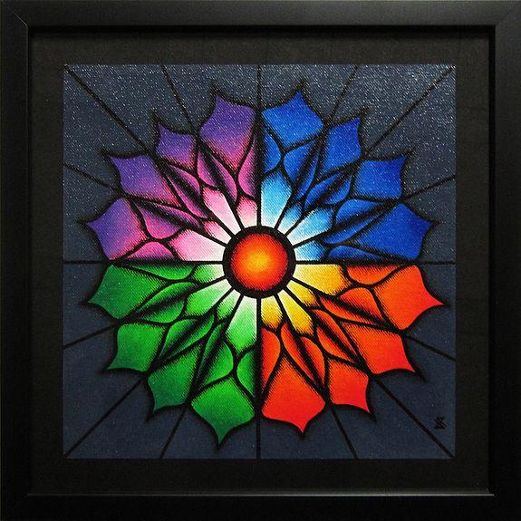 Titre+de+lu0027œuvre+du0027art++Fleur+colorée Peintures sur Artquids - peinture en bombe pour bois