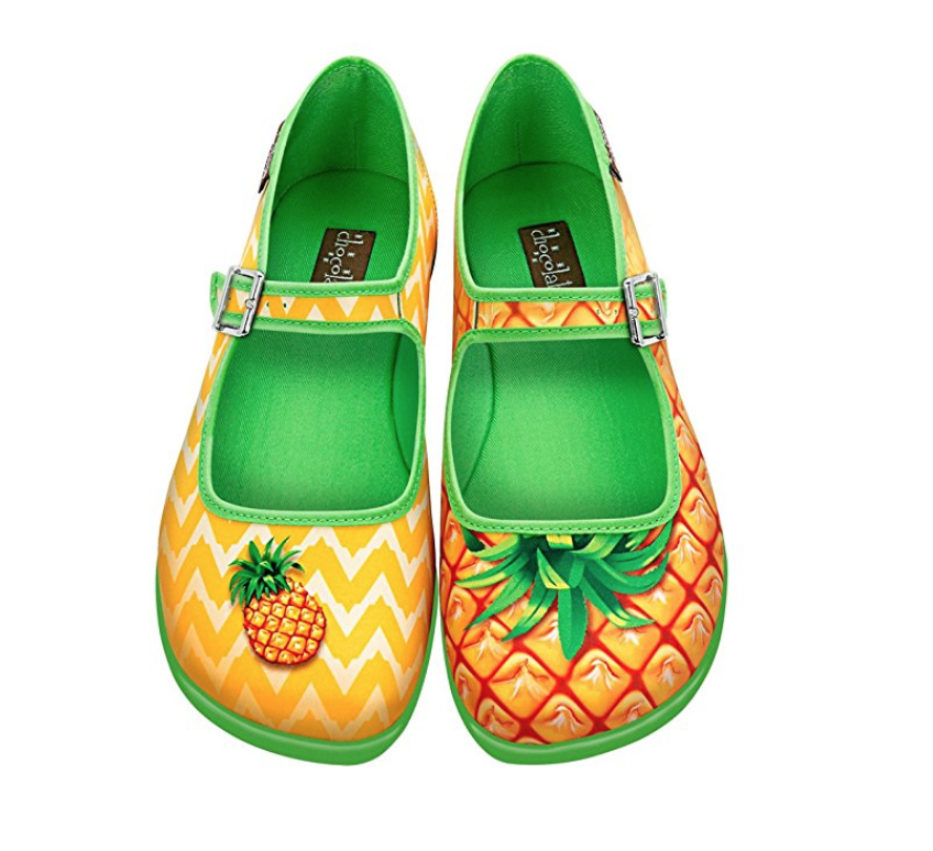 How fun are these? Pineapple Mary Jane Flats
