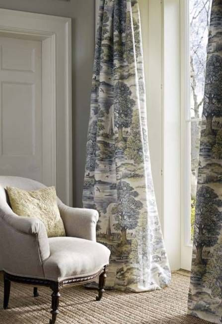 Love These Curtains..Classic English Country Style   Pastoral Scene Curtains  U0027Royal Oak