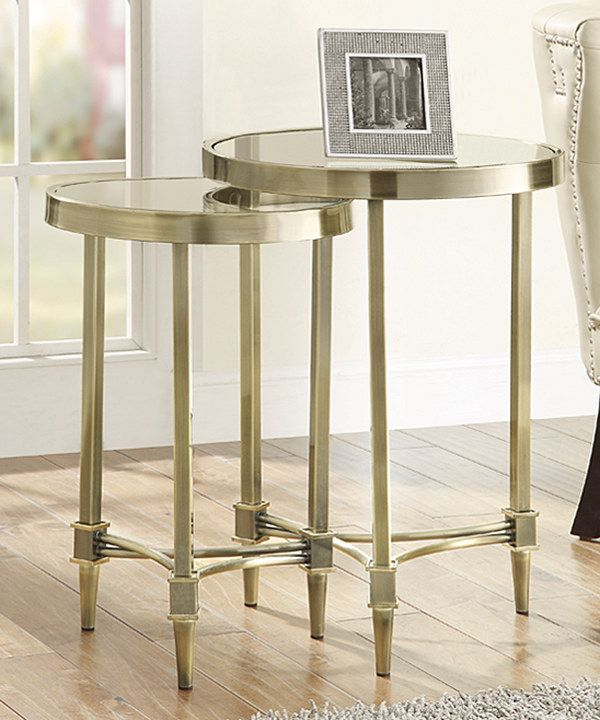 Look At This Two Piece Bronze Nesting Table Set On #zulily Today!