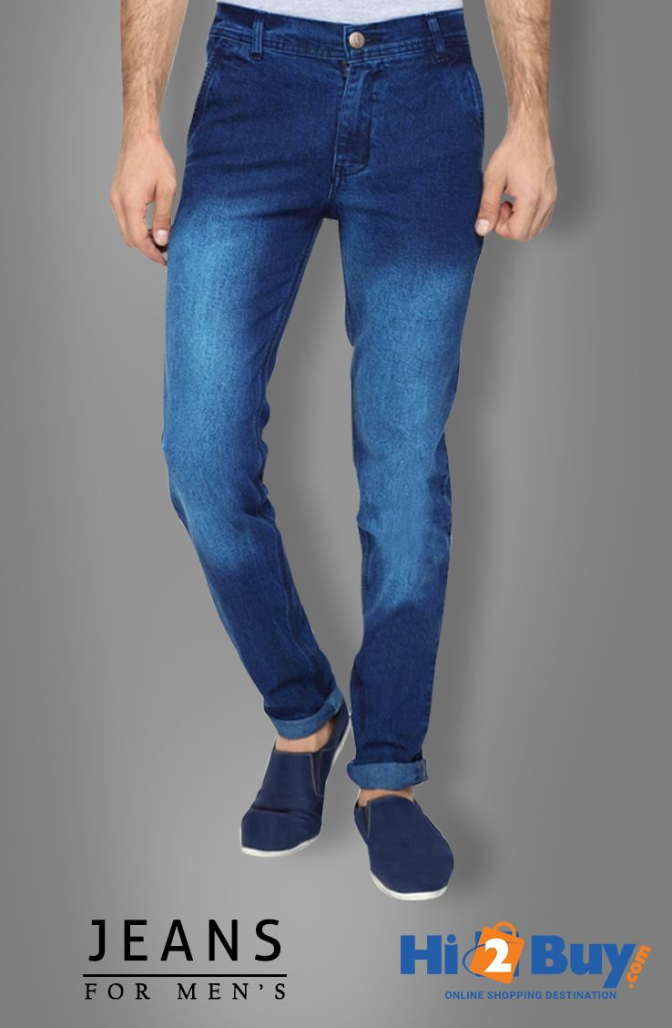 Stretchable Slim Fit Dark Blue men's Jeans  #Hi2buy #OnlineShoppingDestination #MensJeans