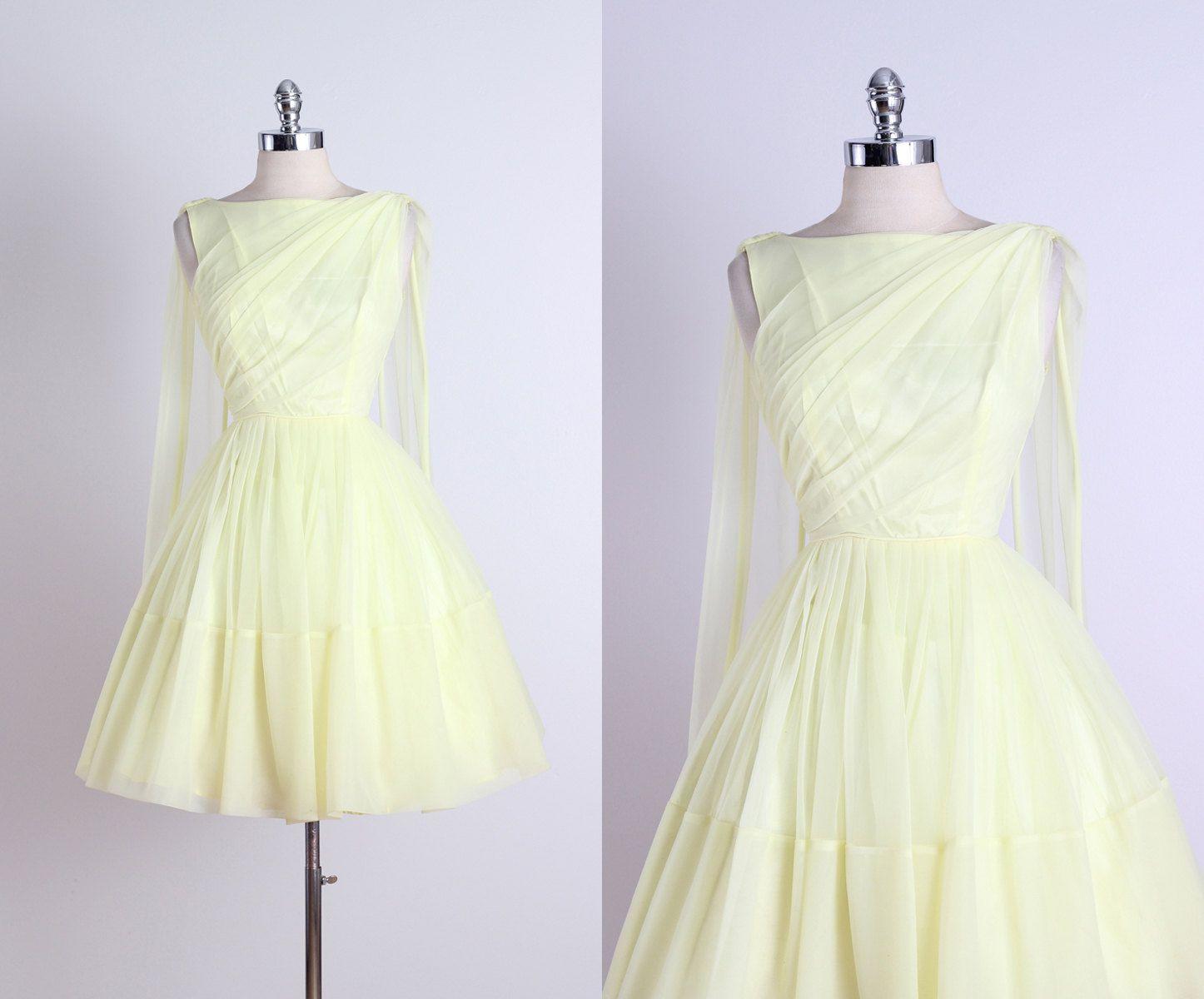 Lemon meringue vintage s dress girlywomanlystuff d