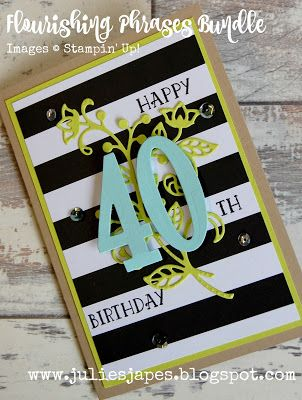Julie Kettlewell Stampin Up Uk Independent Demonstrator Order Products 24 7 Www Juliesjapes 60th Birthday Cards Simple Birthday Cards 65th Birthday Cards