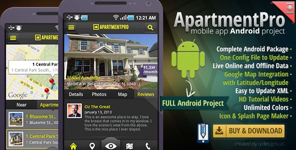 Mobile - Apartment Real Estate Android Full App Source Code