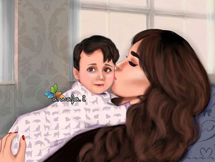 Pin By Bhavya Mulrajani Jaya Amlani On To Find Interesting Cute Cartoon Girl Cute Girl Drawing Mother Art