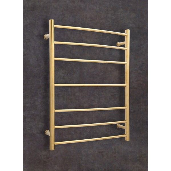 Gold Heated Towel Rail Wall Mounted Traditional 7 Bar Rail