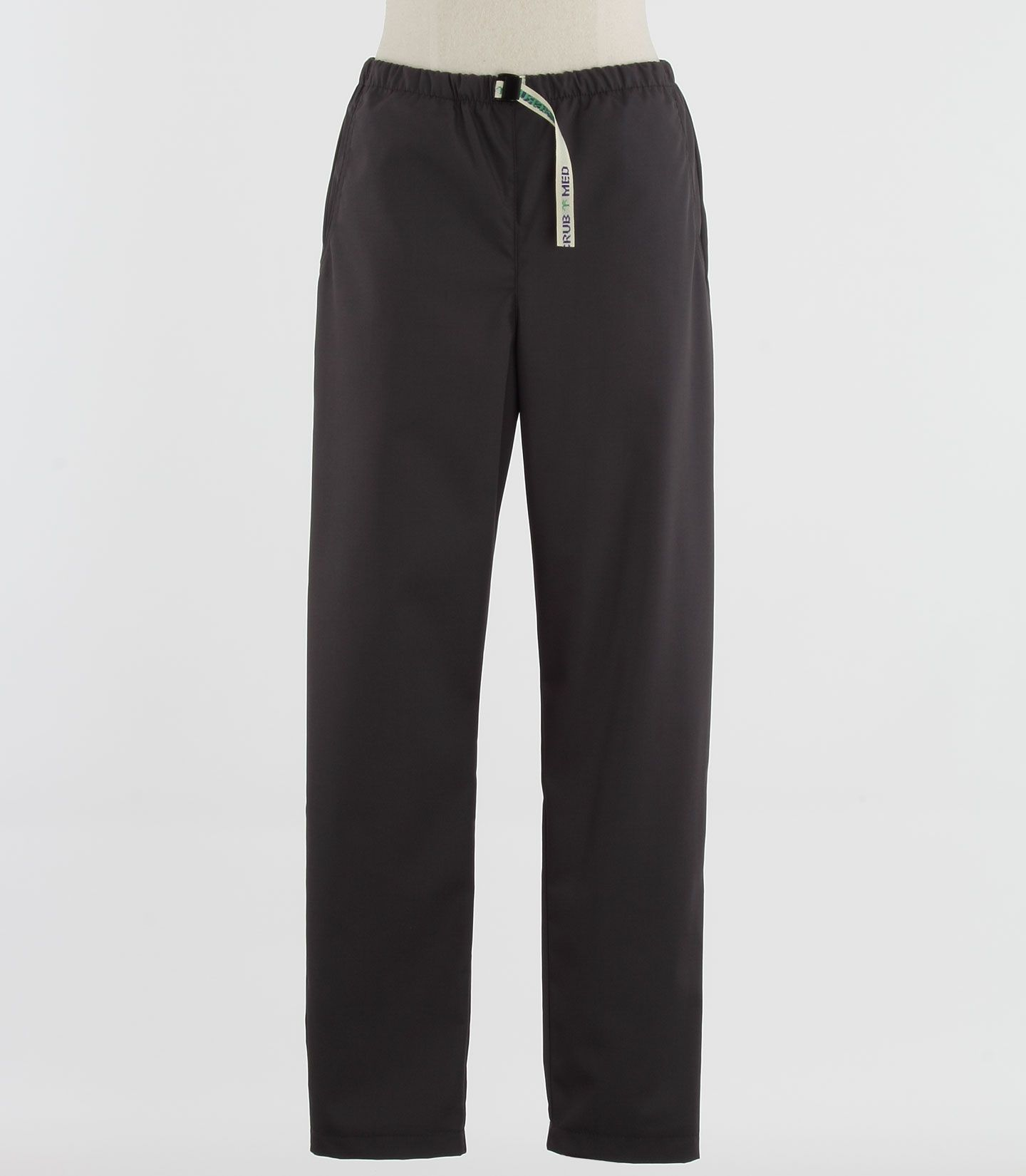 Scrub Med Womens Belted Scrub Pants in Charcoal