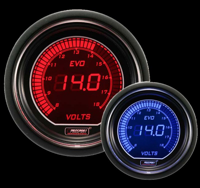 Marvelous Prosport Digital Red And Blue Evo Series Electrical Volt Gauge Z3 Wiring Cloud Funidienstapotheekhoekschewaardnl