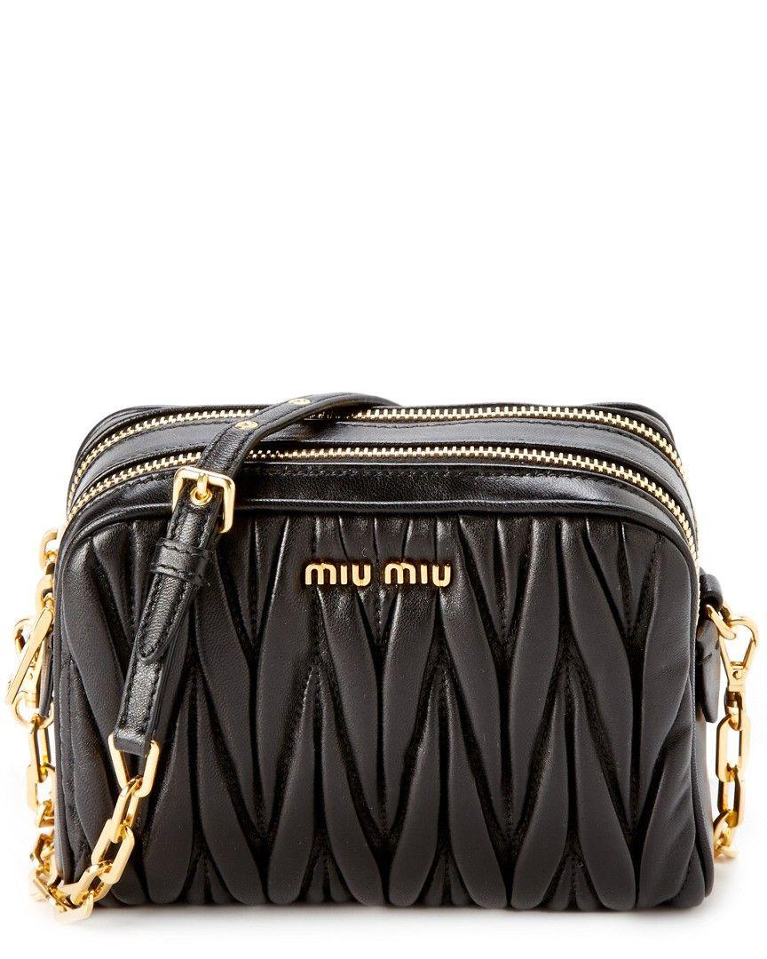 Miu Miu Quilted Leather Camera Bag Black | Style & Clothing ... : miu miu quilted bag - Adamdwight.com