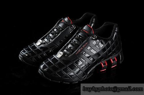 Men's Adidas Porsche Design 6 Running Shoes Full Head Leather Black Red|only US$85.00 - follow me to pick up couopons.
