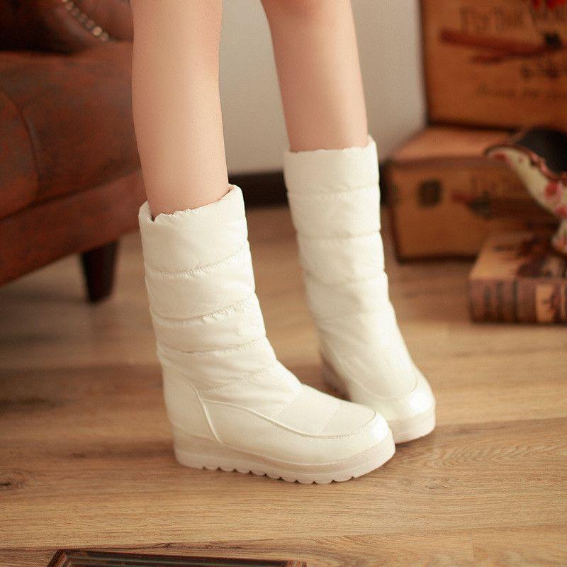 Snow Boots Winter Fur Inside Platform Shoes Woman