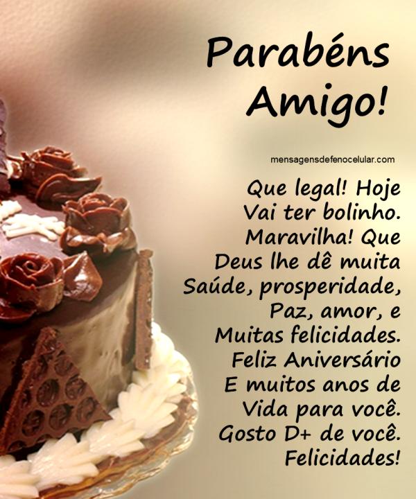 Mensagem De Aniversário Para Amigo Gdkiiur6 Mensagens Birthday