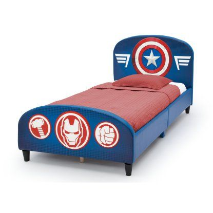 Best Marvel Avengers Upholstered Twin Bed Twin Bed 640 x 480
