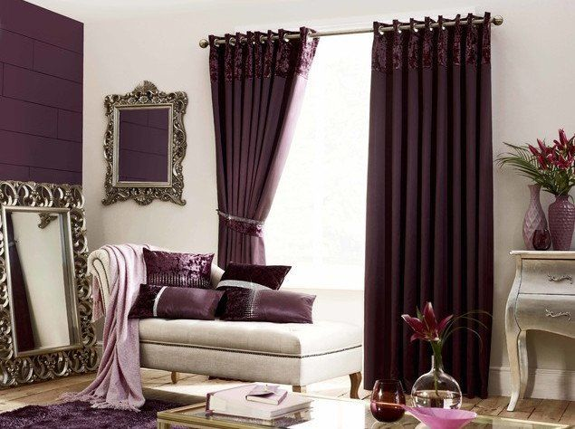 Old Vintage Plum Curtains Velvet Curtains Living Room Purple Curtains Curtains Living