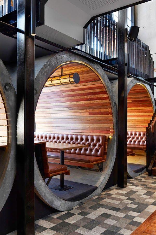 Tubos prefabricados de hormigón dan carácter a la reforma de The Prahran Hotel, en Melbourne