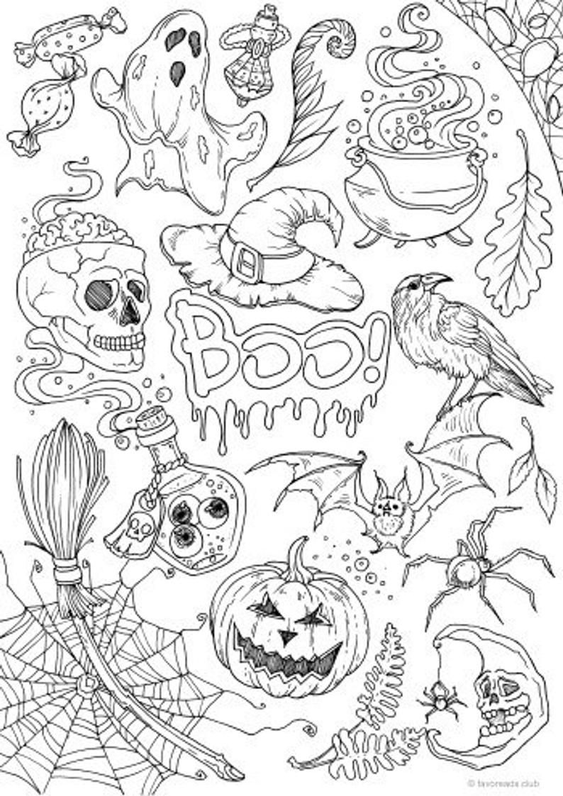 Pin On Halloween Coloring