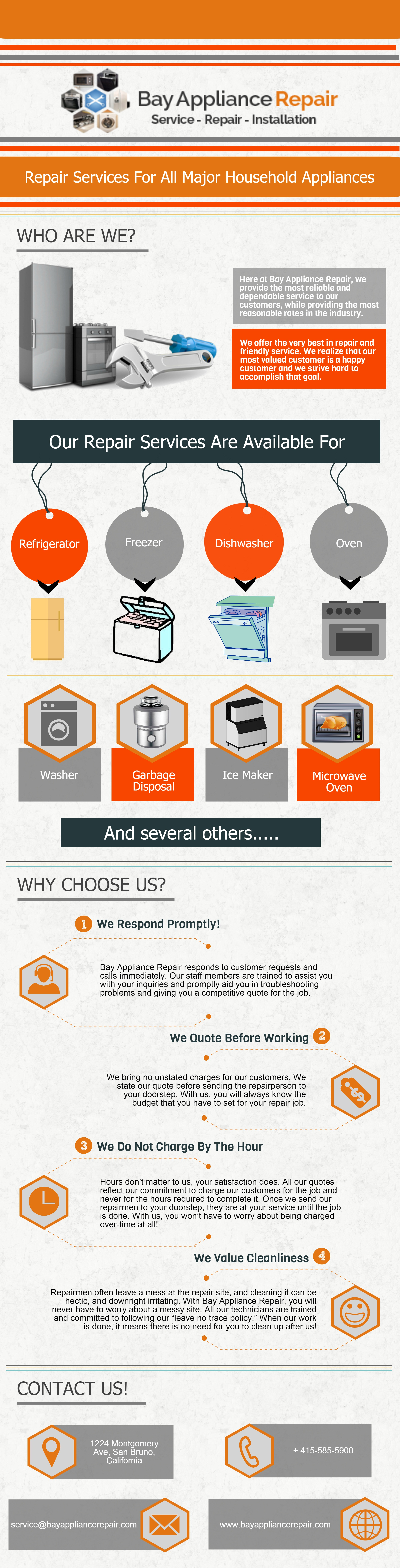 Bay appliance repair bayappliancerep on pinterest