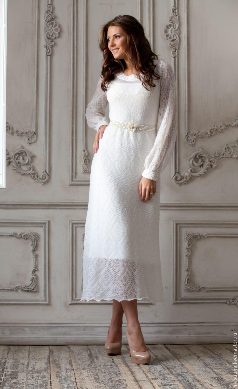 купить платье снежинка белый однотонный мохеровое платье