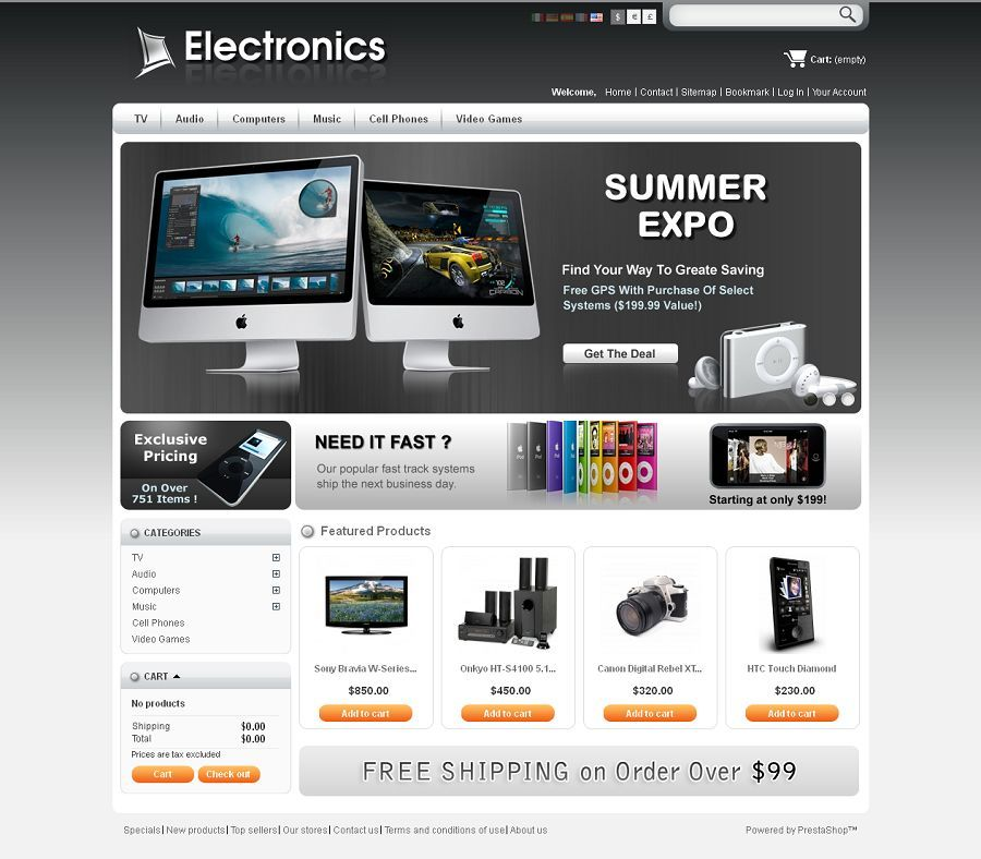 PrestaShop #templates command great admiration from ecommerce site ...