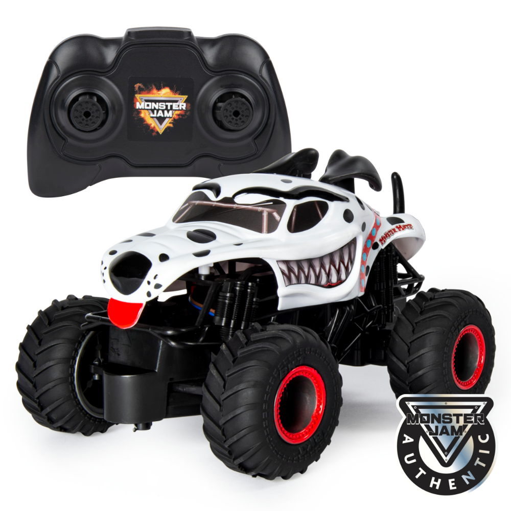 Monster Jam Official Monster Mutt Dalmatian Remote Control Monster Truck 1 24 Scale 2 4 Ghz For Ages 4 And Up Walmart Com Monster Trucks Monster Truck Toys Monster Jam